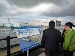 金沢港大水深岸壁工事現場視察