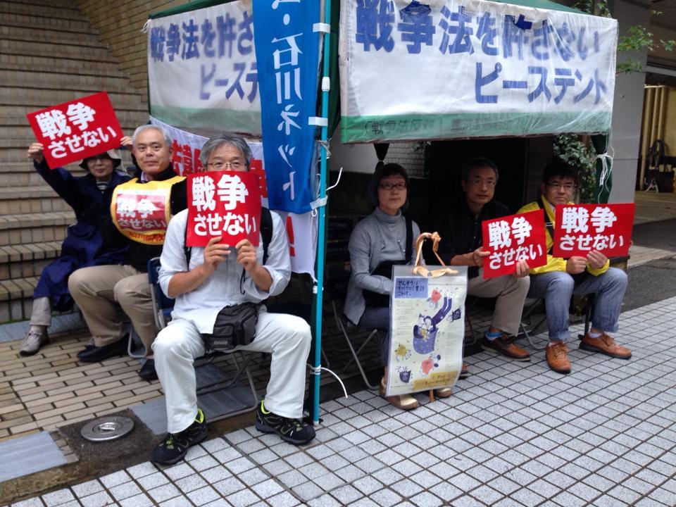 9.18四高記念公園から教育会館前にて(2)